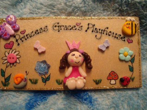 Prince Or Princess Wendy House Playhouse Or Bedroom 3d Wooden Personalised Sign Indoor or Outdoor Unique